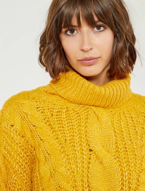 pull-col-roule-jaune-avec-torsades-jaune-femme
